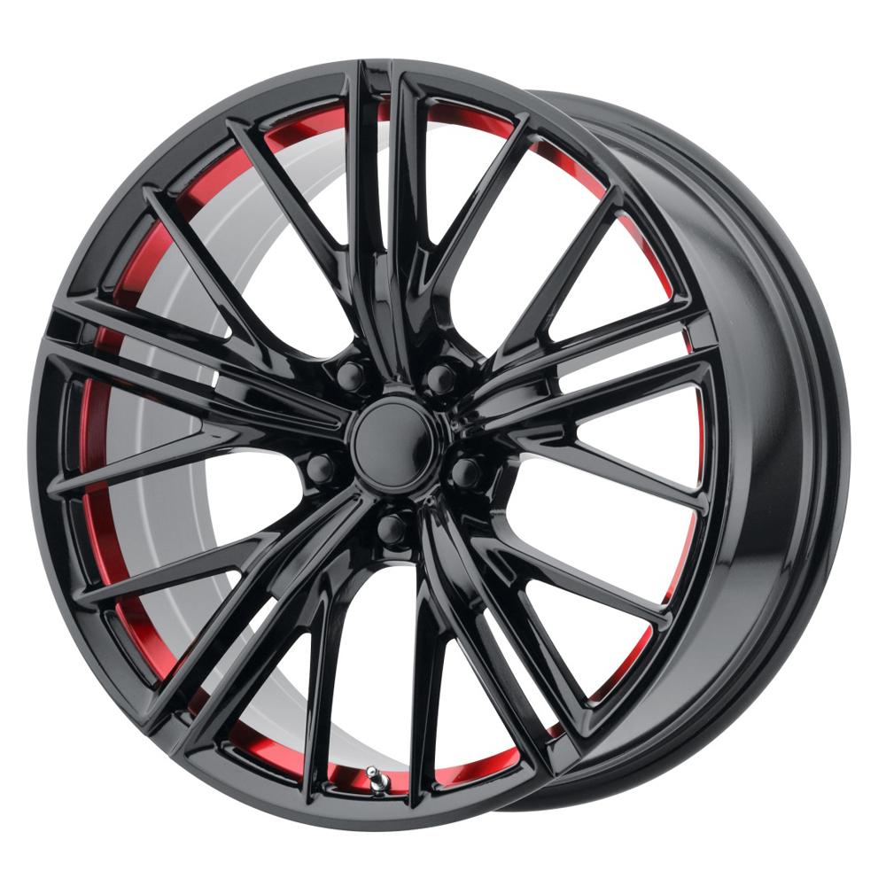 OE Creations Wheels PR194 - Gloss Black / Red Machined Rim
