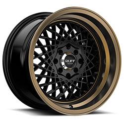 Ruff Wheels R362 - SATIN BLACK W/ BRONZE LIP Rim
