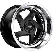 Ruff Wheels R368 - SATIN BLACK W/ MACHINED LIP Rim
