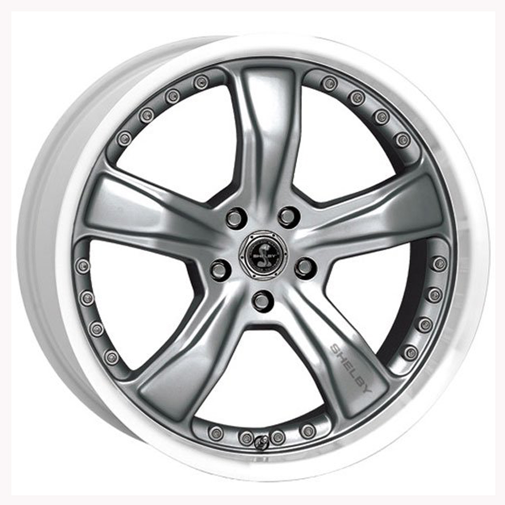 Carroll Shelby Wheels SB198 Razor - Gunmetal w/Machined Lip Rim