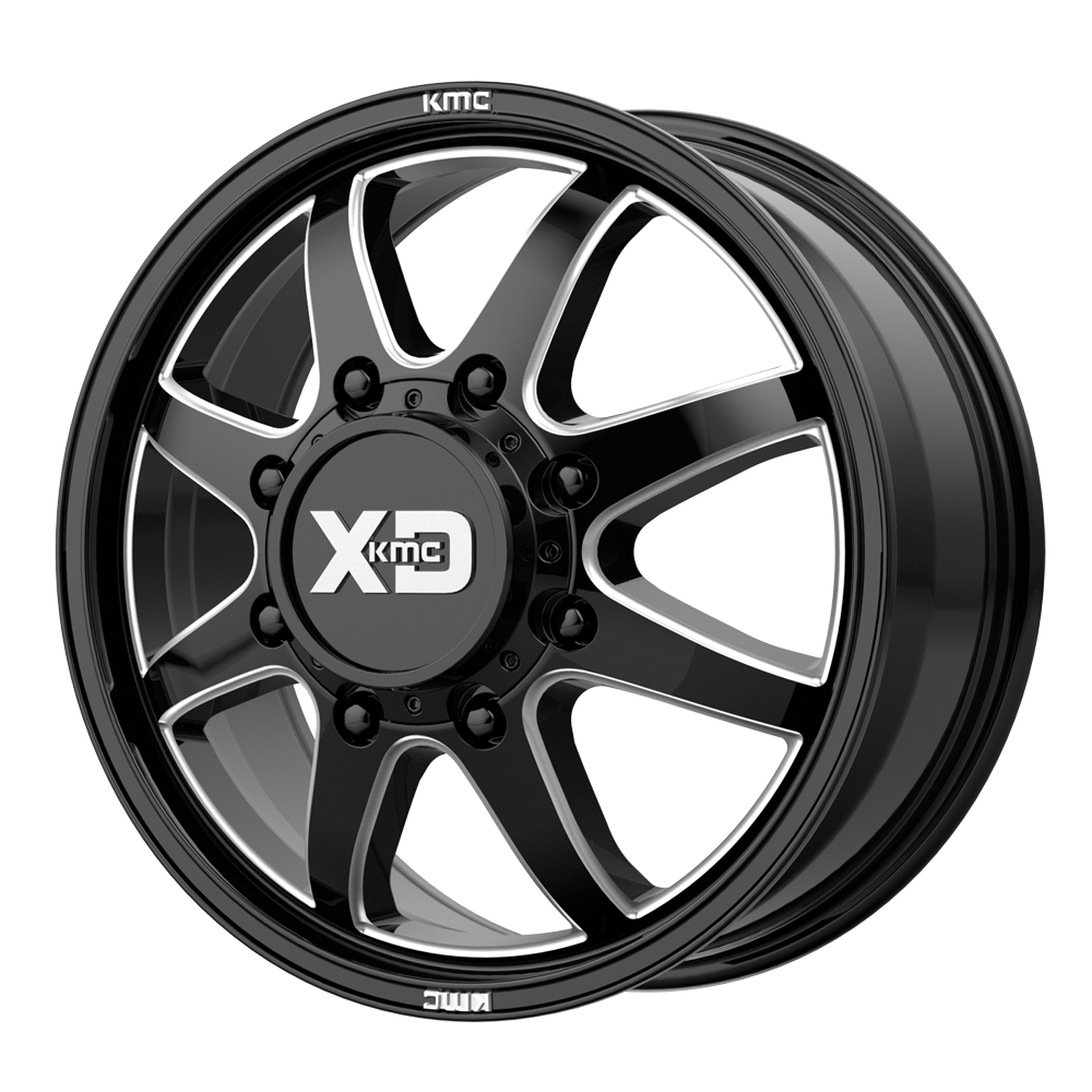 XD Series Wheels XD845 Pike Dually Front - Gloss Black Milled - Front Rim