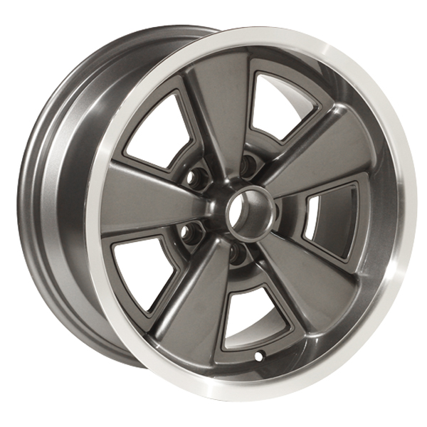 Yearone Wheels Five Spoke GM - Gunmetal Gray Powder Coated / Machined Lip.