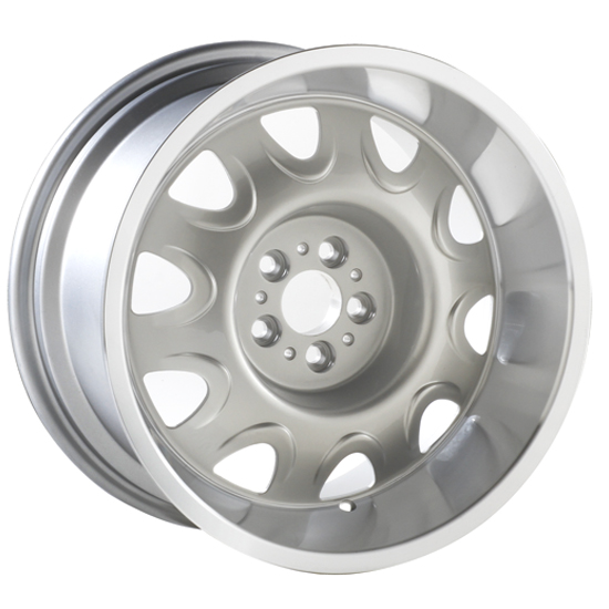 Yearone Wheels Mopar Rallye - Silver with machined lip