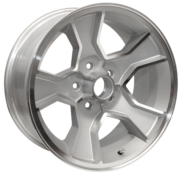 Yearone Wheels N90 - Silver powder coated with machined lip.