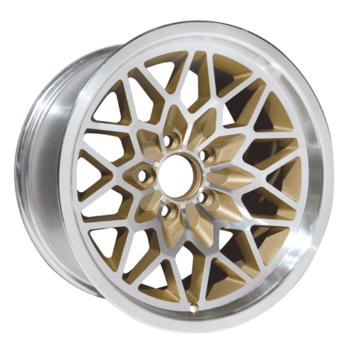 Yearone Wheels Snowflake - Gold painted recesses