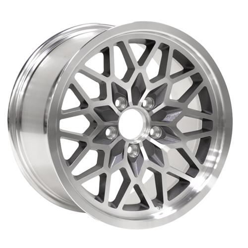 Yearone Wheels Snowflake - Gunmetal painted recesses