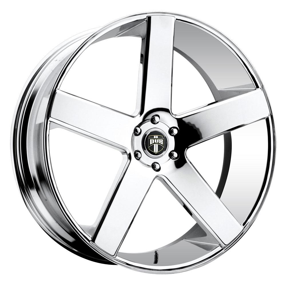 DUB Wheels Baller (S115) - Chrome Rim - 30x10