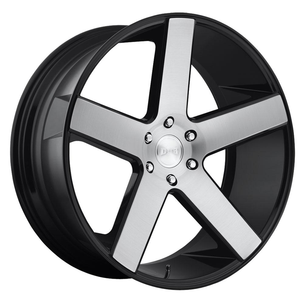 DUB Wheels Baller (S217) - Gloss Black Brushed Rim