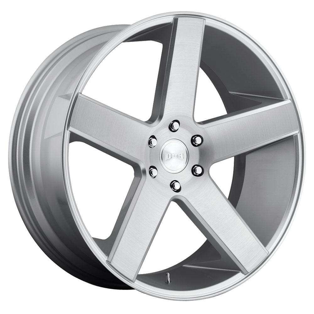 DUB Wheels Baller (S218) - Gloss Silver Brushed Rim