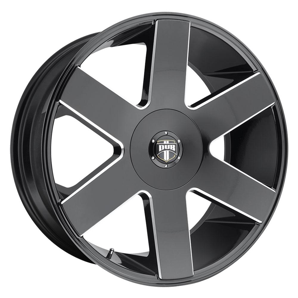 DUB Wheels Baller 6 (S233) - Gloss Black & Milled Rim