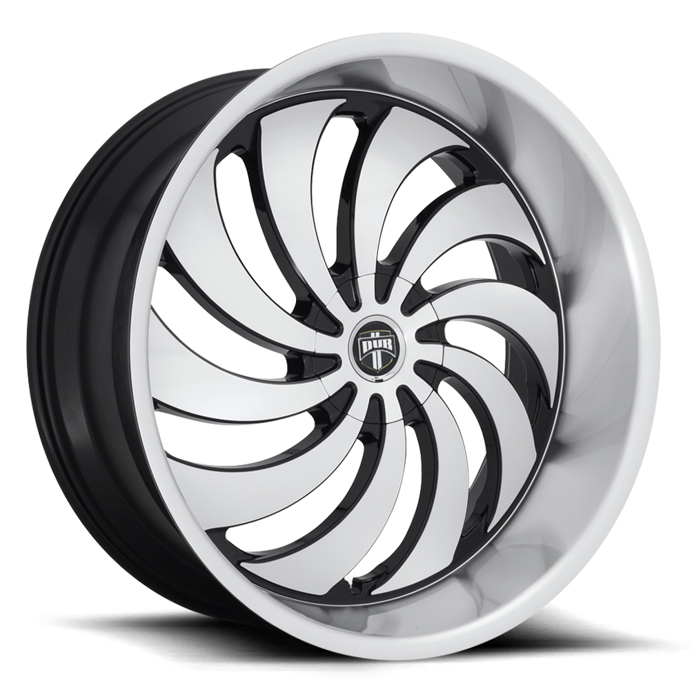 DUB Wheels Cojones (S243) - Gloss Black Machined Rim