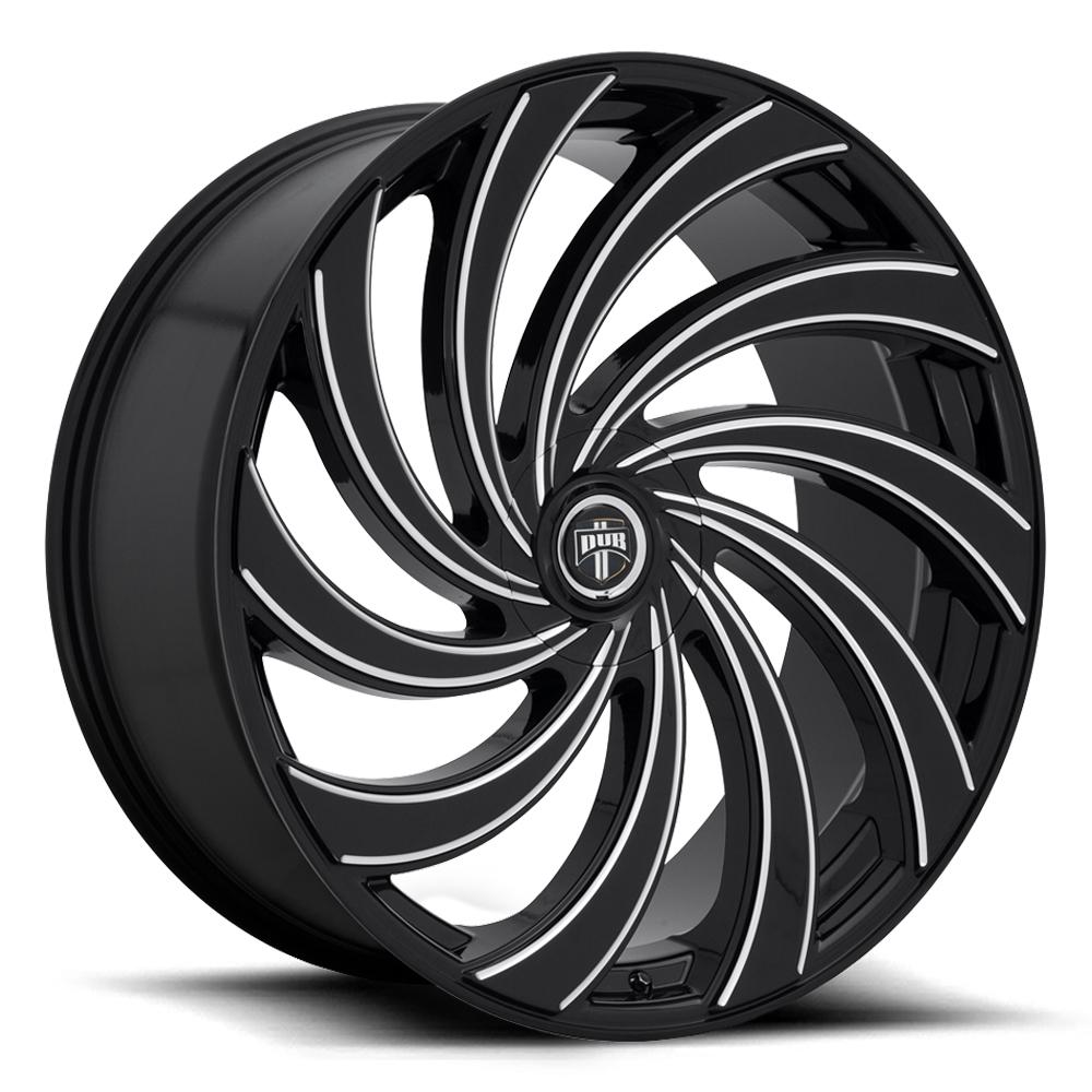 DUB Wheels Delish (S239) - Gloss Black & Milled Rim