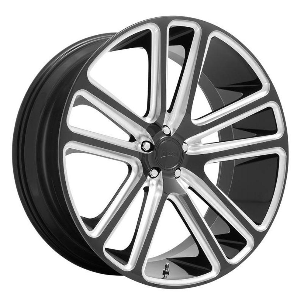 DUB Wheels Flex (S255) - Gloss Black Milled Rim