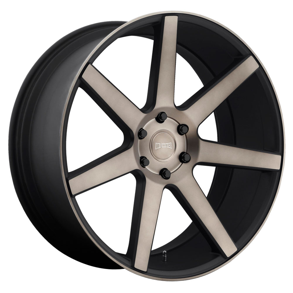 DUB Wheels Future (S127) - Black & Machined w/ Dark Tint Rim