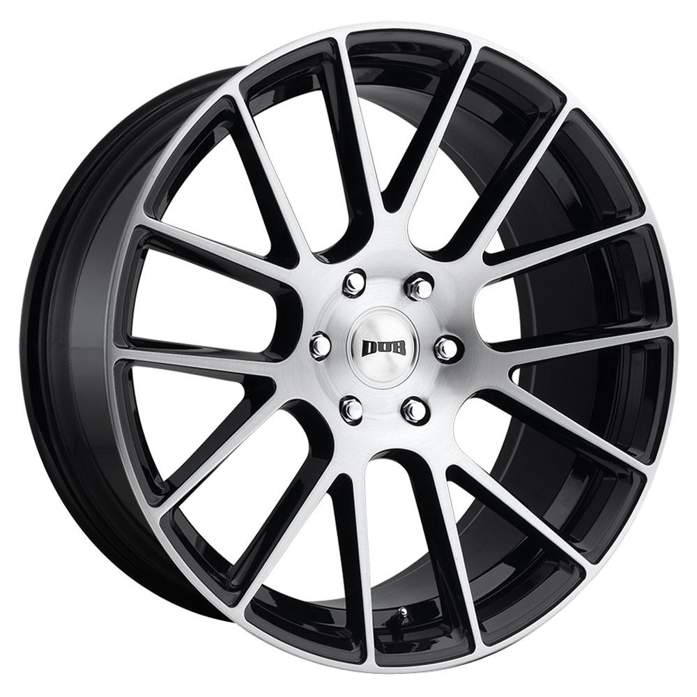 DUB Wheels Luxe (S206) - Gloss Black Brushed Rim