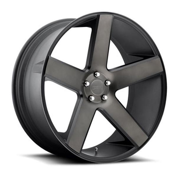 DUB Wheels Baller (S116) - Matte Black & Machined Rim - 30x10