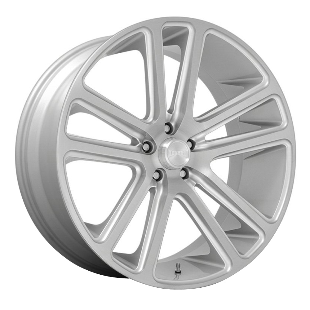 DUB Wheels Flex (S254) - Gloss Silver with Brushed Face Rim