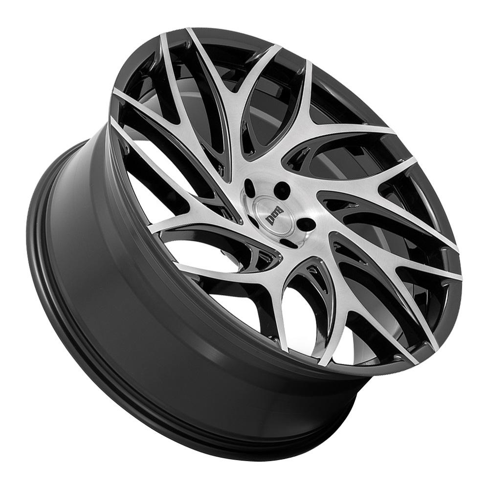 DUB Wheels G.O.A.T (S259) - Gloss Black with Machined Spokes Rim