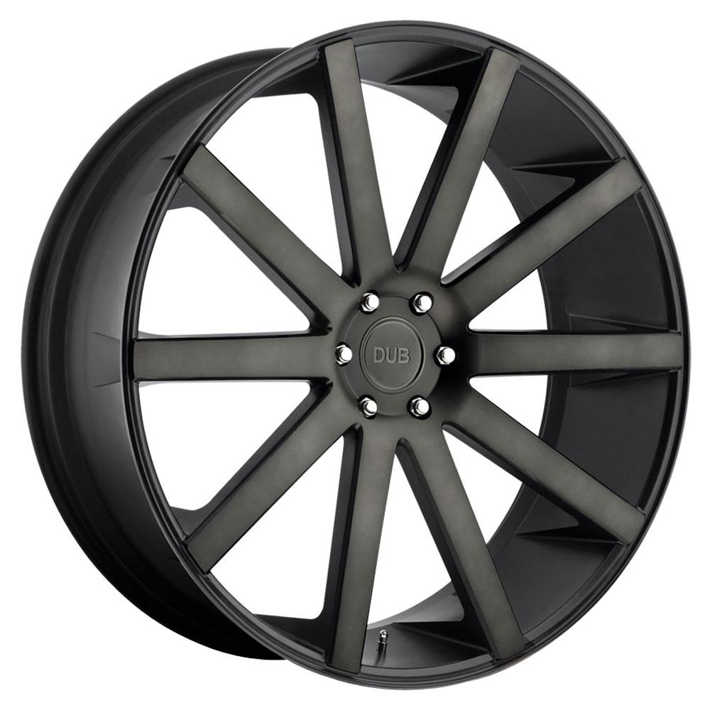DUB Wheels Shot Calla / S121 - Black & Machined with Double Dark Tint Rim