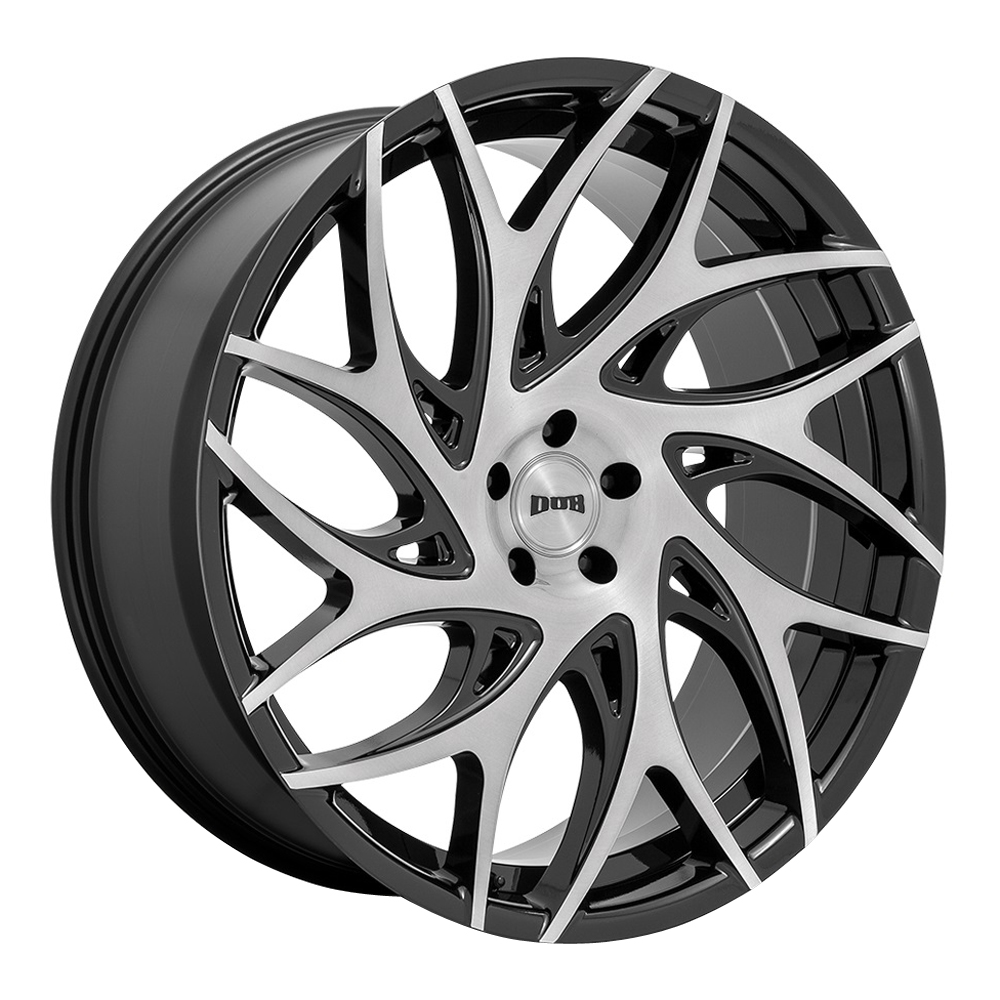 DUB Wheels S260 G.O.A.T. - Brushed Face with Gloss Black Dark Tint Spokes Rim