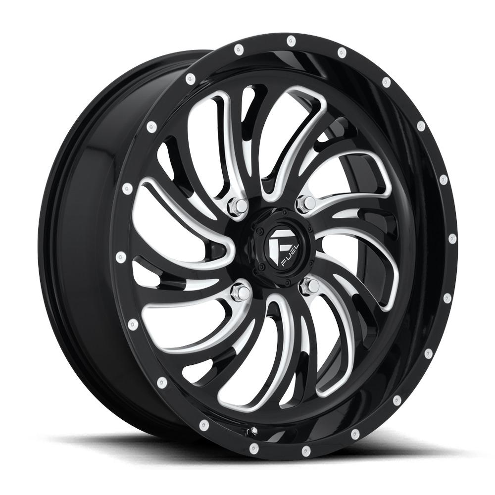Fuel UTV Wheels Kompressor D641 - Gloss Black / Milled Rim - 22x7