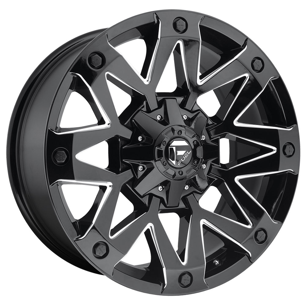 Fuel Wheels Ambush D555 - Gloss Black & Milled