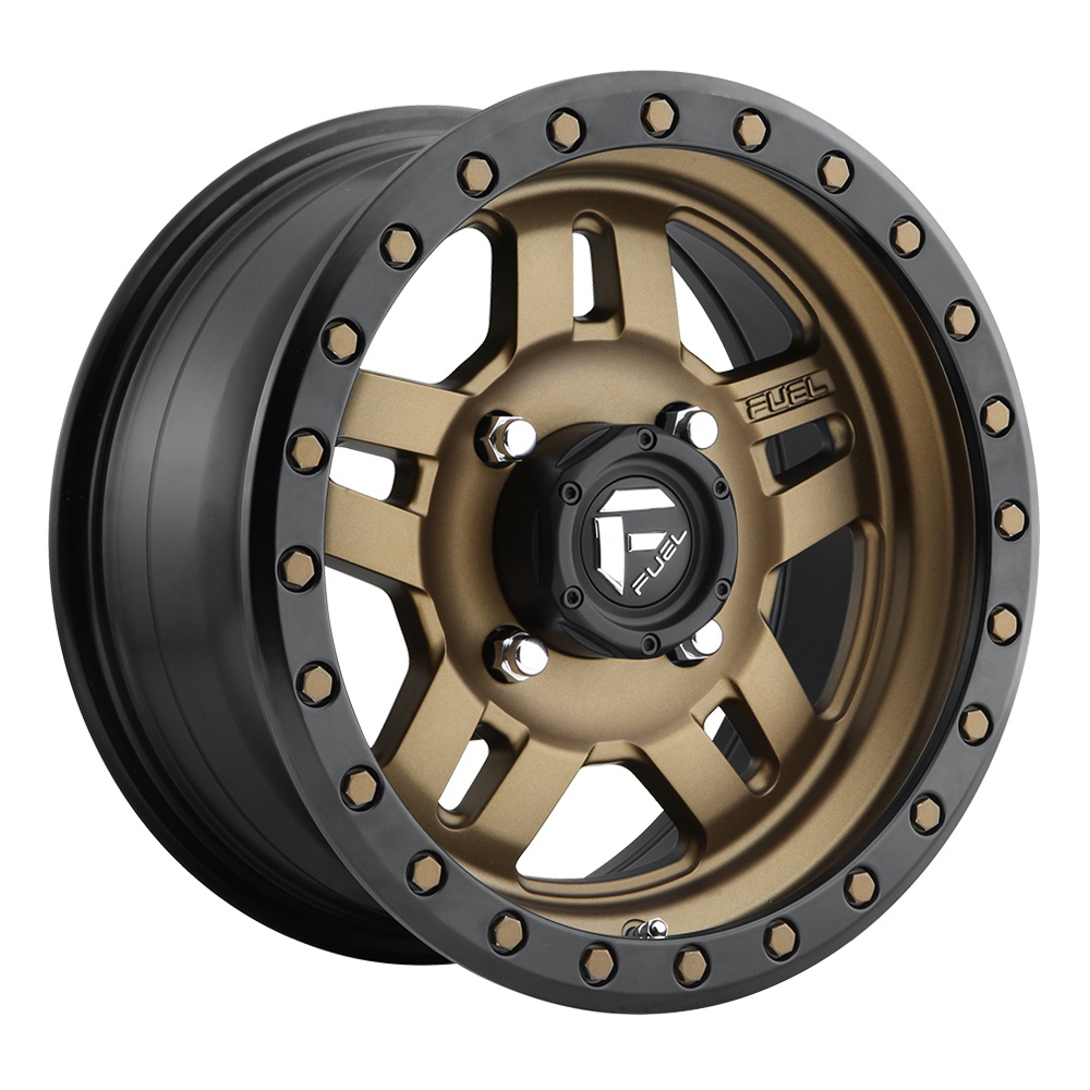 Fuel Wheels Anza D583 UTV - Matte Bronze with Black Ring