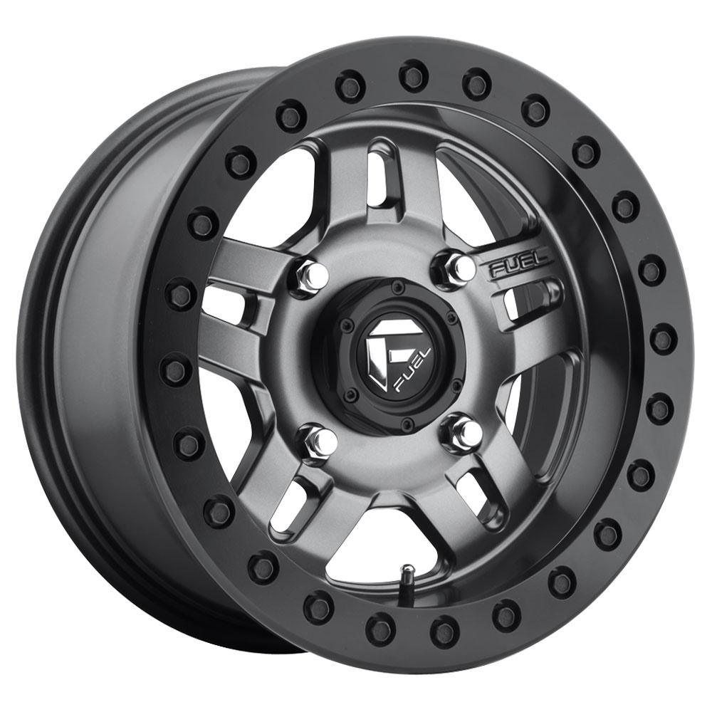 Fuel Wheels Anza Beadlock D918 UTV - Matte Anthracite with Black Ring