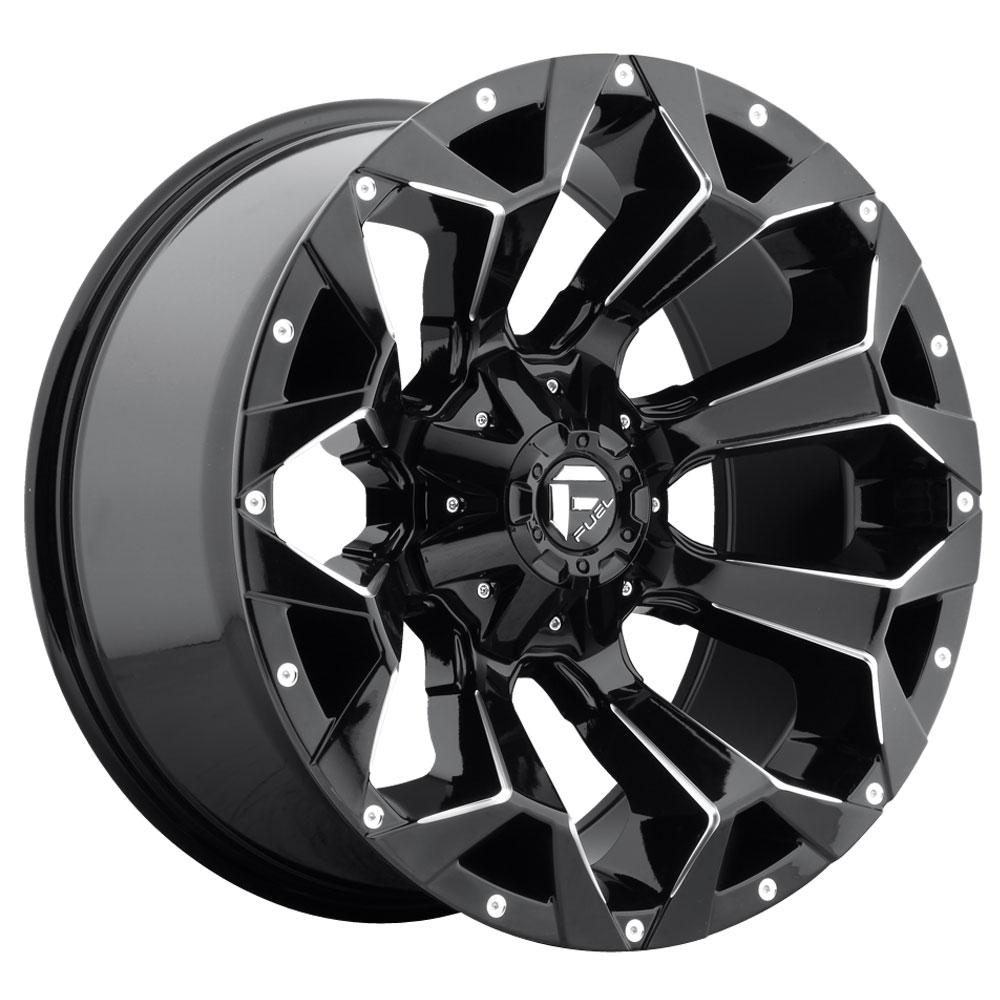 Fuel Wheels Assault D576 - Gloss Black & Milled
