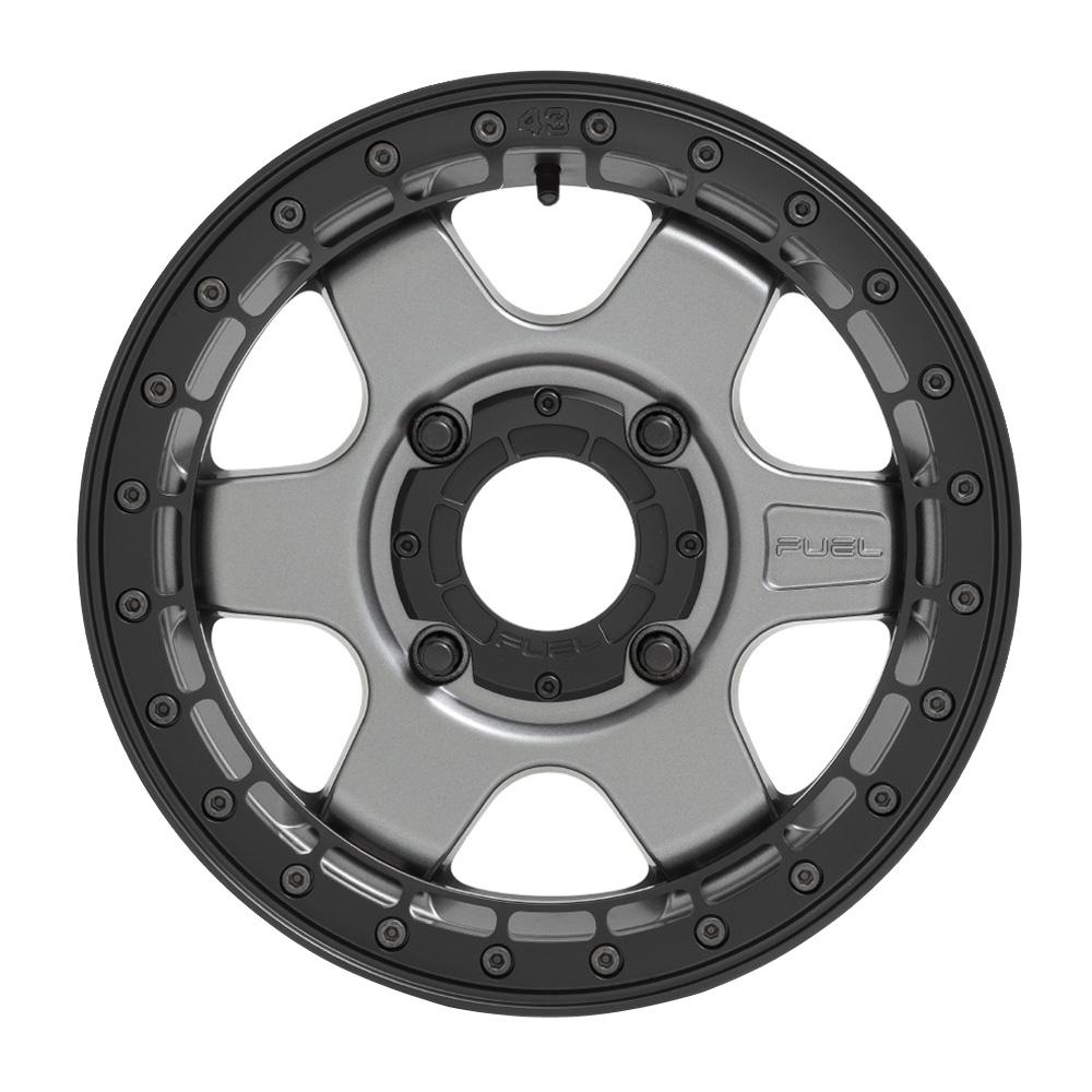 Fuel UTV Wheels Block D923 UTV - Matte Gunmetal Black Ring Rim