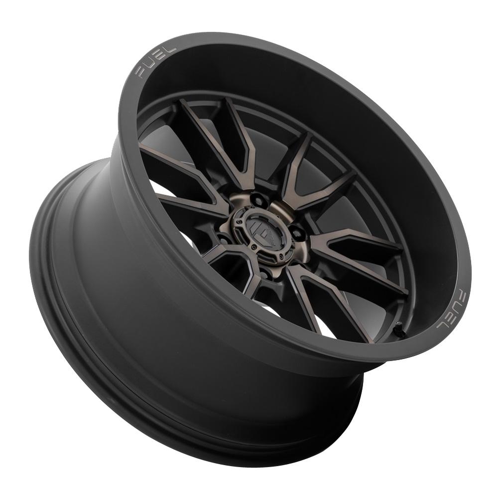 Fuel Wheels Clash 6 D762 - Matte Black Dark Tint Rim