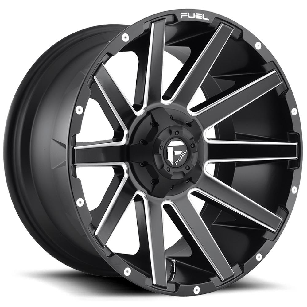 Fuel Wheels Contra D616 - Matte Black & Milled