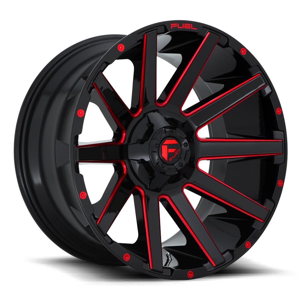 Contra D643 - Gloss Black with Candy Red