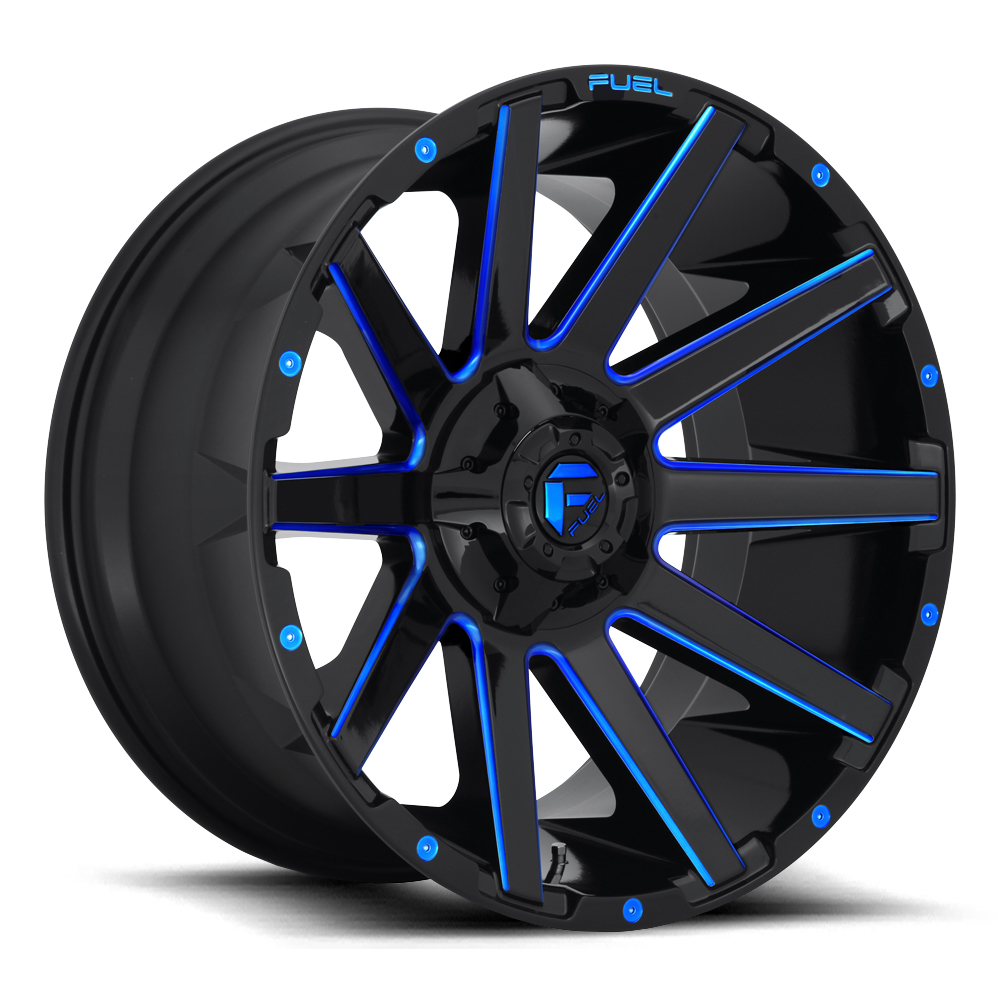 Contra D644 - Gloss Black with Candy Blue