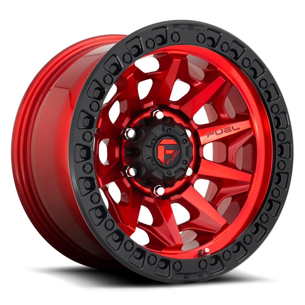 Fuel Wheels Covert D695 - Gloss Red Rim