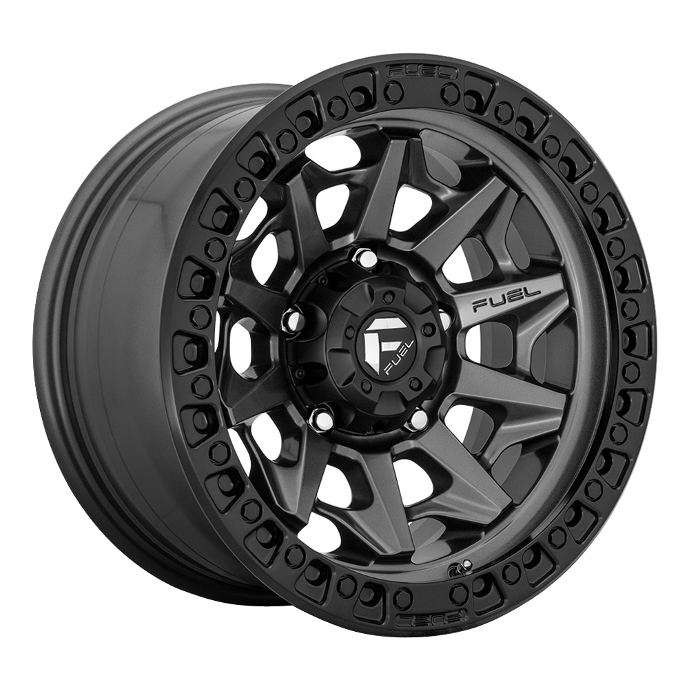Fuel Wheels Covert D716 - Matte Gunmetal Gray with a Double Dark Tint Rim