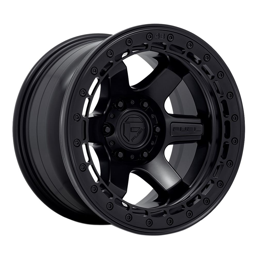 Fuel Wheels D122 Block Beadlock - Matte Black With Matte Black Ring Rim