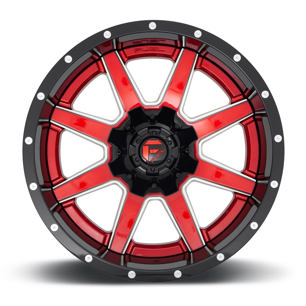 Fuel Wheels Maverick D260 - Red with Gloss Black Lip Rim