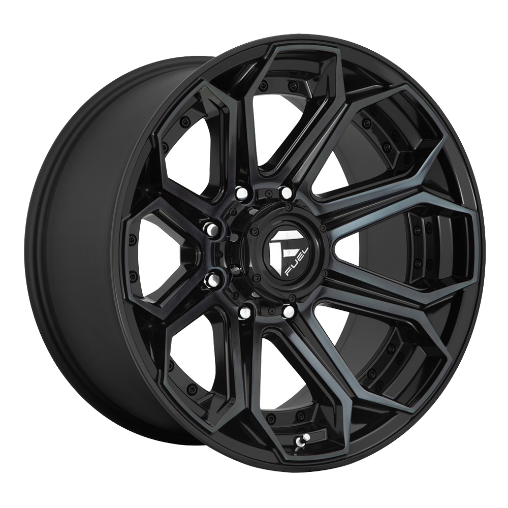 Fuel Wheels D704 Siege - Gloss Machined Double Dark Tint Rim