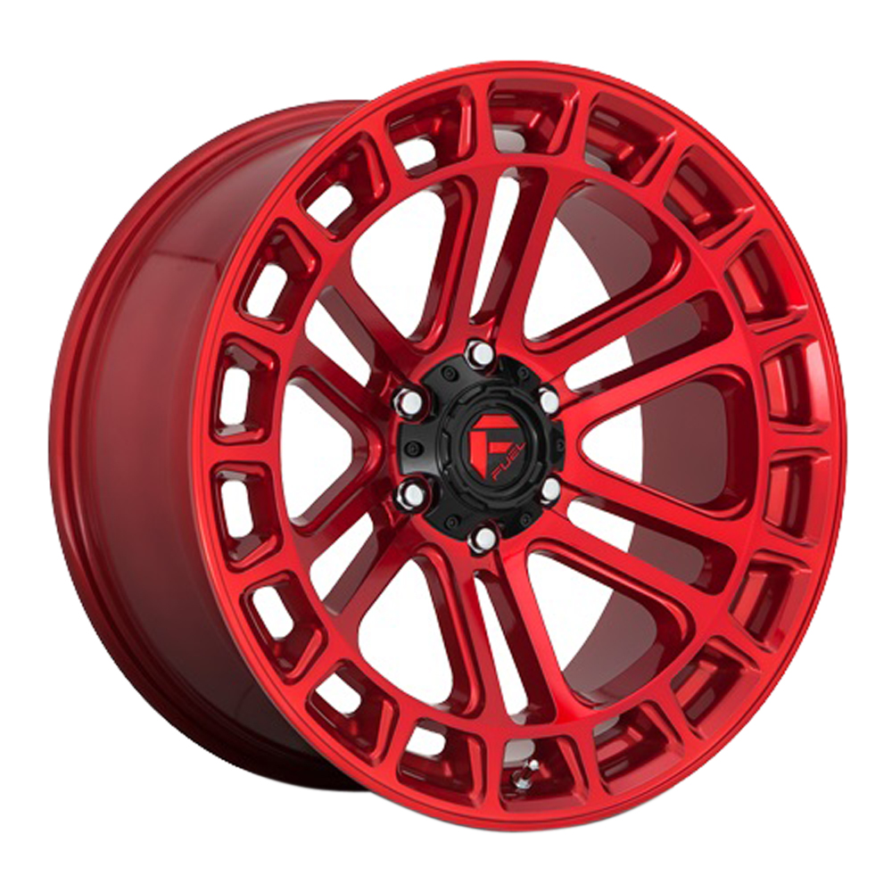 Fuel Wheels D720 Heater - Candy Red Machined Rim
