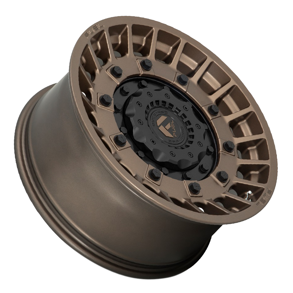 Fuel Wheels D725 Militia - Matte Bronze and Black Rim