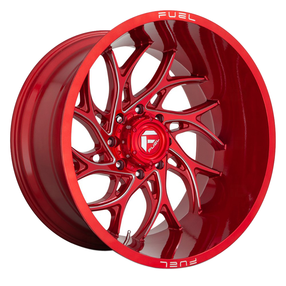 Fuel Wheels D742 Runner - Candy Red Milled Rim