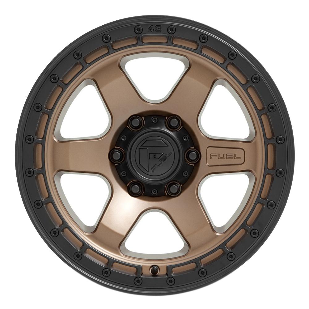 Fuel Wheels D751 Block - Matte Bronze w/Black Ring Rim