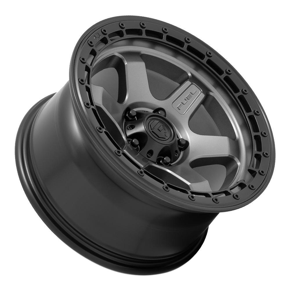 Fuel Wheels D752 Block - Matte Gunmetal w/Black Ring Rim