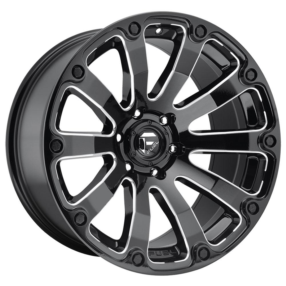 Fuel Wheels Diesel D598 - Black & Milled