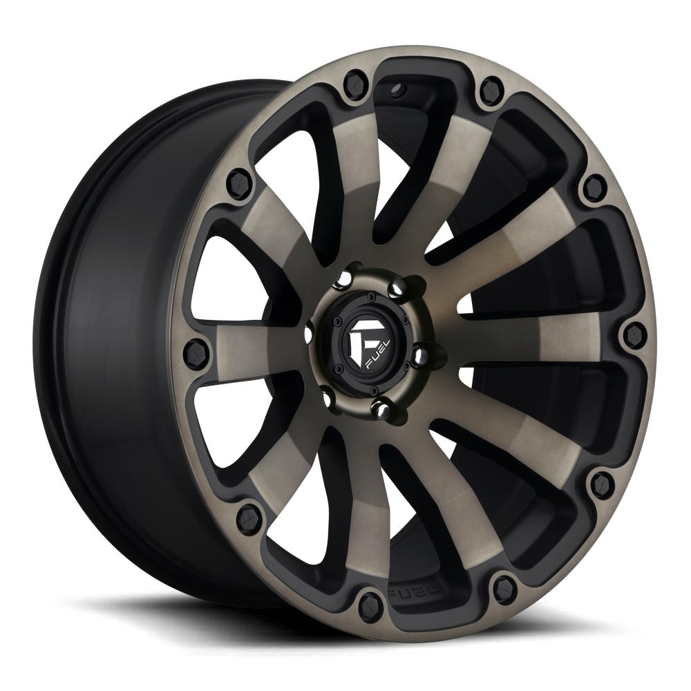 Fuel Wheels Diesel D636 - Black & Machined with Dark Tint