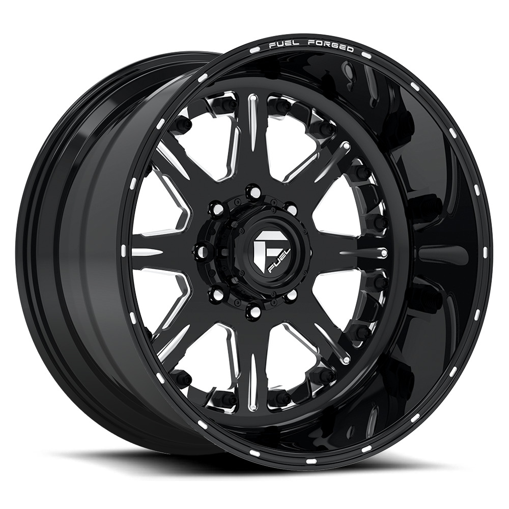 Fuel Wheels FF25 DE25 - Gloss Black / Milled