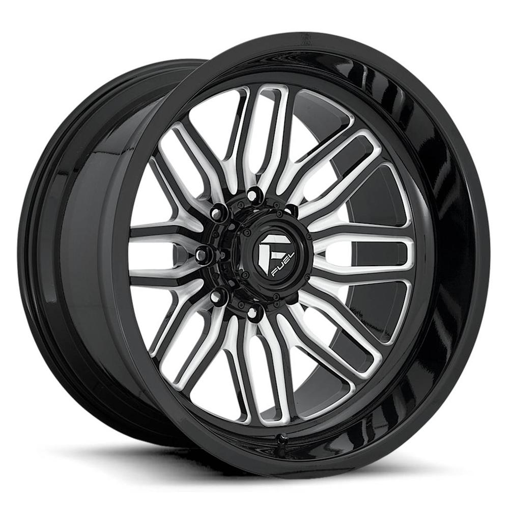 Fuel Wheels FFC66 - Gloss Black with Milled Spoke Edges Rim