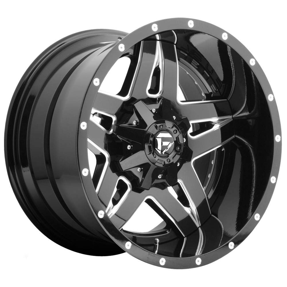 Fuel Wheels Full Blown D254 - Gloss Black & Milled