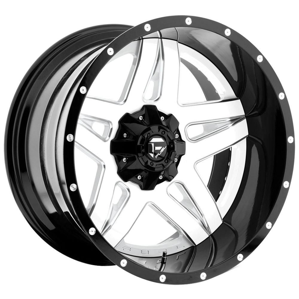 Fuel Wheels Full Blown D255 - Gloss White / Milled